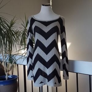 🔥5 FOR $25🔥Sweater Knit Chevron Dress